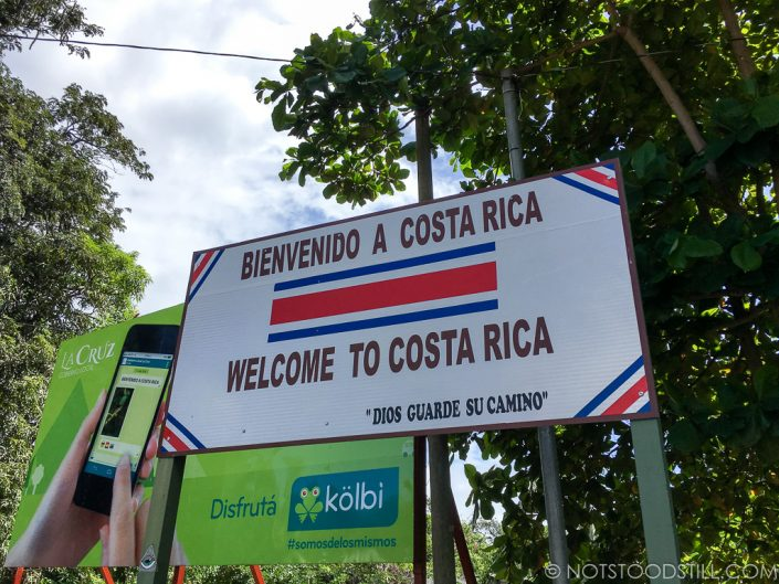 Crossing the border on foot