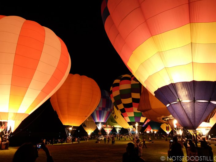Balloons fire up for the evening show