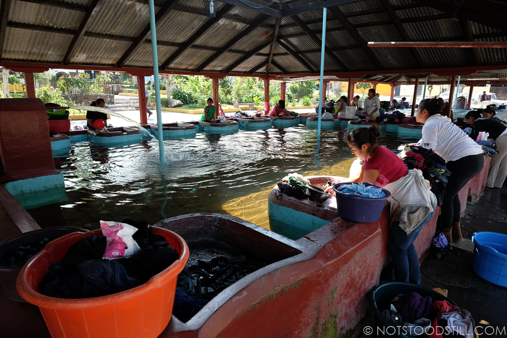 Public laundry pools for washing clothes