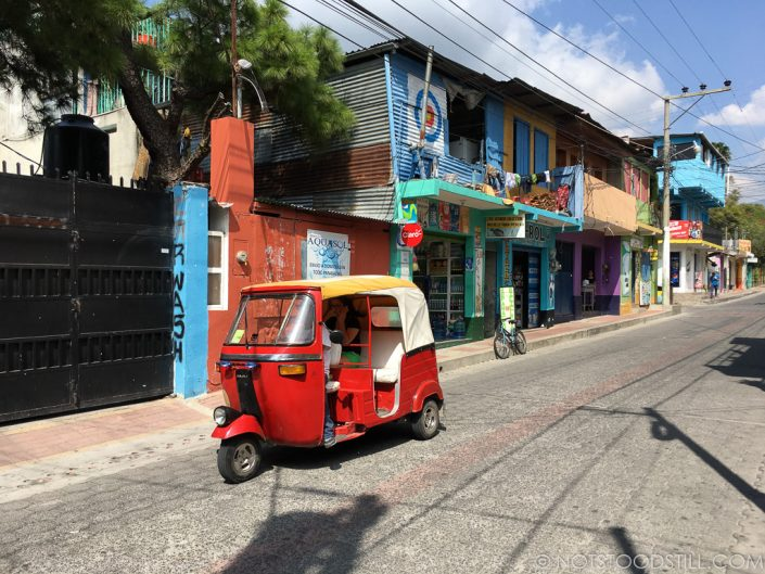 Colourful streets of Panajachel.
