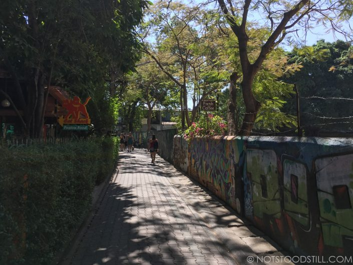 Ratvithi Rd Lane 1, one of the quiet backstreets great for exploring.