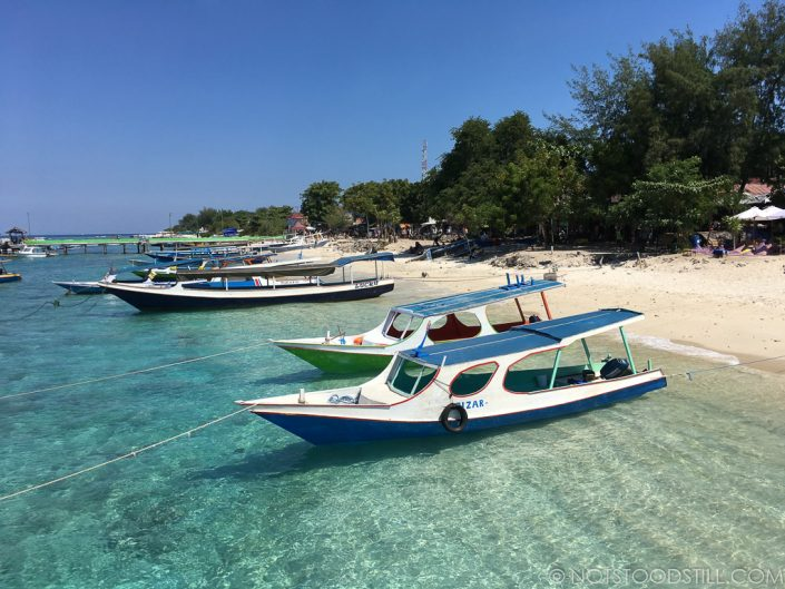 Our boat arrives at Gili T